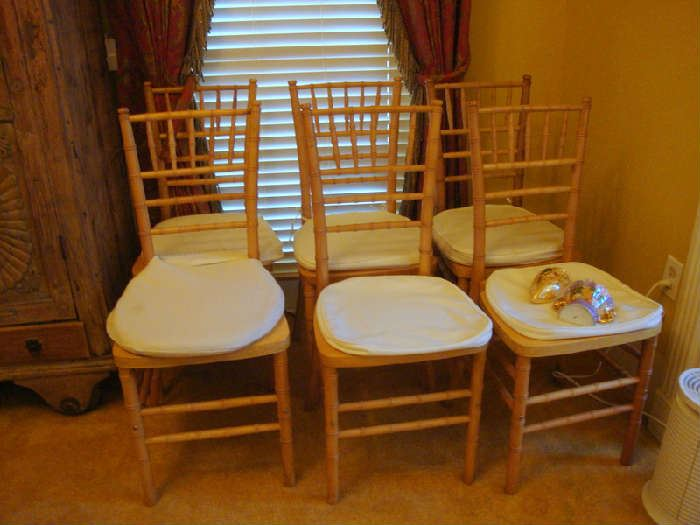Set of 6 Bamboo Chairs