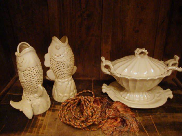 Large Porcelain Fish and Tureen