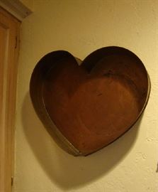 Large Copper Heart Mold