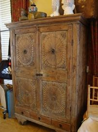 Primitive carved Cabinet