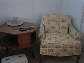 Side Table and Sweet French Provincial Chair