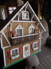 Swiss Chalet, Furnished Dollhouse
