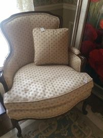 One of two matching chairs used as host/hostess chairs