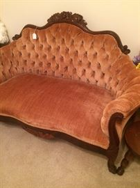 Another antique peach-colored settee
