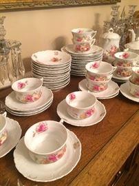 Pink rose dessert set