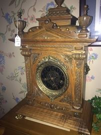 Stunning very old Gazo mantel clock