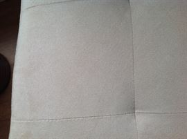 Pair of microsuede chairs. Clean condition. Can arrange delivery.