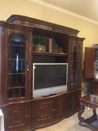 Extra large entertainment unit perfect for a flat screen TV