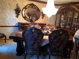 AICO Dinning  Room Set,Very Beautiful, table w/ X Extansion and 8 stunning chairs, very High Quality
