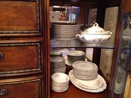 "Gorgeous set of dishs marked ""Governors Mansion"""