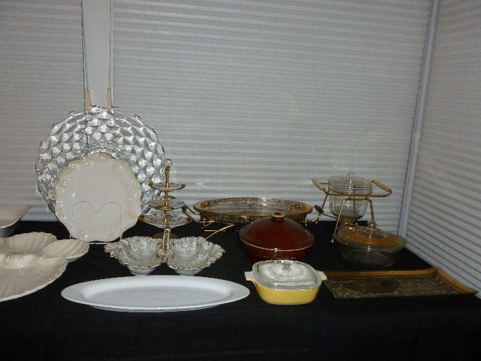 Some retro serving pieces