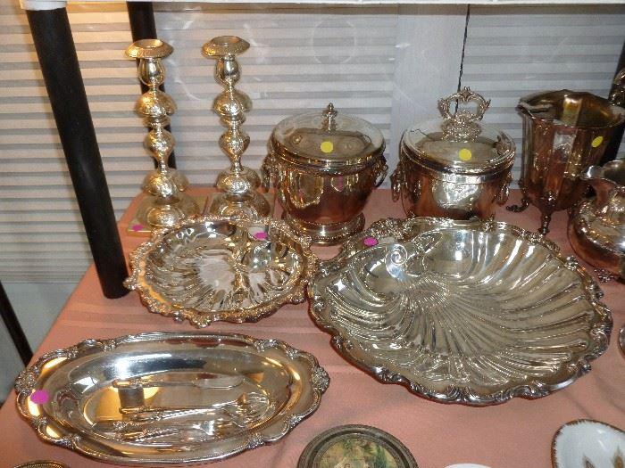Beautiful fancy heavy silver plate