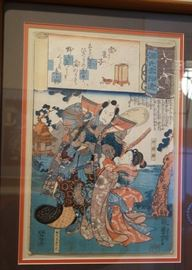 MANY JAPANESE WOODBLOCK PRINTS-THIS ONE BY KUNIYOSHI.