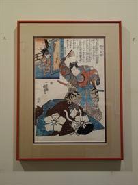 .WOODBLOCK PRINT BY UTAGAWA KUNIYOSHI.