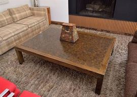 BUY IT NOW!  Lot #100, Large Mid Century Coffee Table, $400