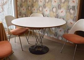 """BUY IT NOW!  Lot #149, Early Isamu Noguchi """"Cyclone"""" Dining Table for Knoll, $2,500"""