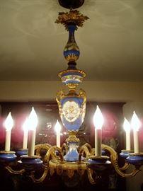 French Porcelain Chandelier