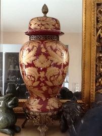 Ginger Jar  & Stand  $450.