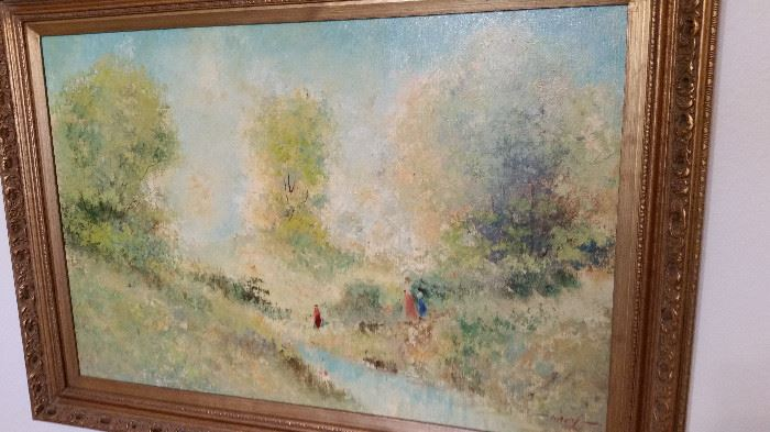 Signed Impressionist Oil Painting