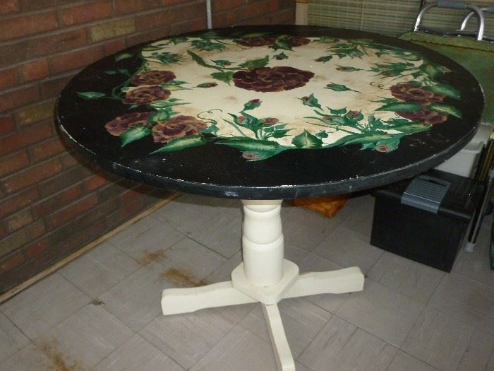 Neat old painted table