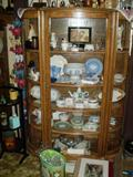 Curio cabinet newer.  Wedgwood collection