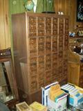 60 drawer card catalogue in great condition.