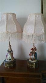 **FANCY ** 1940S FIGURAL BOUDOIR LAMPS