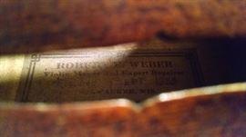 VINTAGE VIOLIN 1930S REPAIR TAG..1935