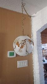 Neat mid century hanging lamp!