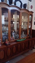 Broyhill Emphasis China cabinet -  the largest one I've ever seen! So cool! So mid century modern!