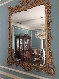 Elegant and extra large gold mirror