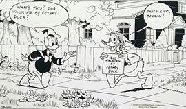 Walt Disney - Fethry Duck, Dog Walker