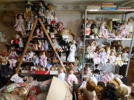 This ROOM is filled with DOLLS