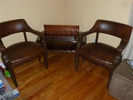 Pair of nice leather chairs