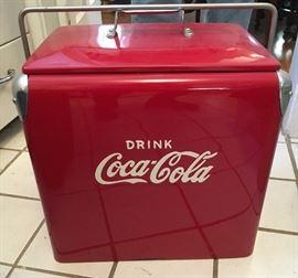 restored Coca-Cola cooler