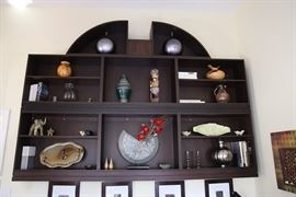 Available for purchase NOW by appointment -  we are asking $800.   Must be removed from wall before 4/13/17.   6'H x 9'W.   Additional shelves available.