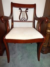 Lyre-back dining chair