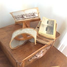 STEREOSCOPE AND SLIDES