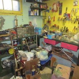 Tons of Tools Man Cave Filled