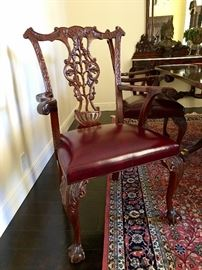 Carved Chippendale Chairs