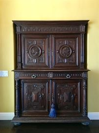 18th Century Carved Cupboard