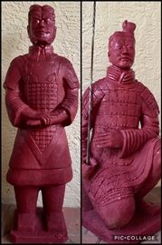 Pair Mongolian Statues
