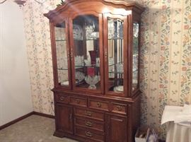 Lovely glassware inside Thomasville china cabinet - all are for sale