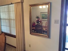 Gold surround large mirror