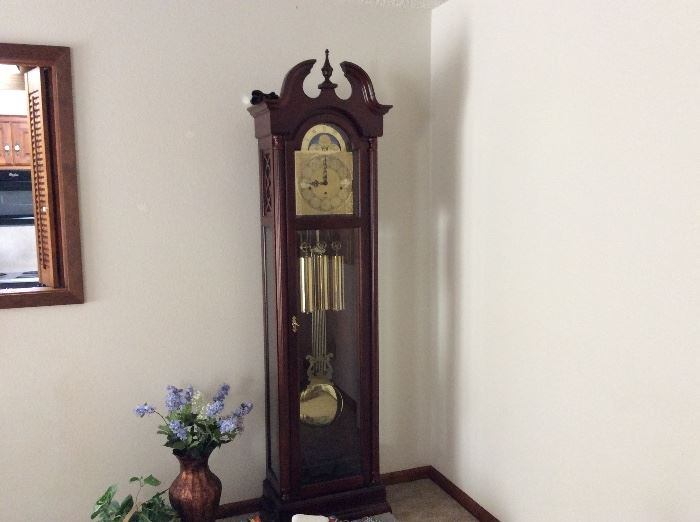 Grandfather clock and home decor
