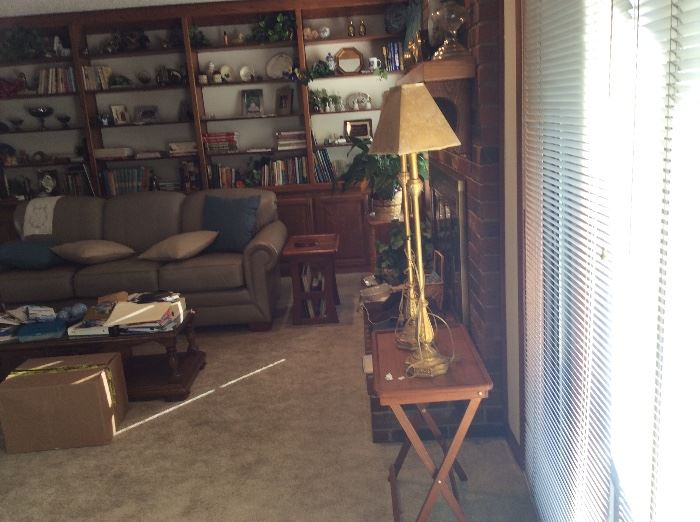 Lamps, coffee table
