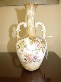 Antique Teplitz Bavaria hand painted vase