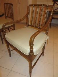 FAUX BAMBOO REGENCY WITH GOLD ACCENTS CHAIRS  KINDEL FURNITURE COMPANY (detail)