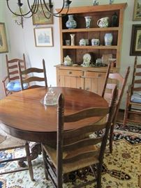 Round table sold Rush chairs still for sale.