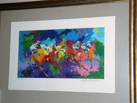 "LeROY NEIMAN SERIGRAPH ""THE RACE"" - SIGNED/NUMBERED LIMITED EDITION"